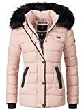 Marikoo Damen Winter Jacke Steppjacke Unique (Vegan Hergestellt) Rosa Gr. S