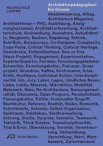 Architekturpädagogiken: Ein Glossar