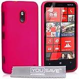 Coque Nokia Lumia 620 Etui Rose Chaud Dur Hybride Housse