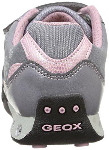 Geox N Jocker G B, Baskets Basses Fille Gris (C1006)