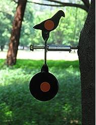 Spinning Airgun objetivo screwed-type acero Plinking Target Paloma pellet objetivo cabra