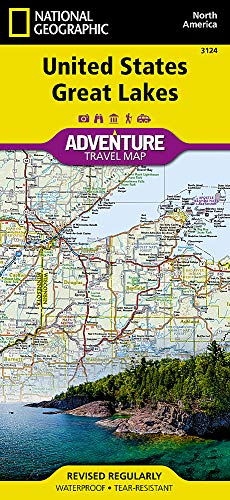 United States, Great Lakes (National Geographic Adventure Travel Map, Band 3124) (Große Us-karte)