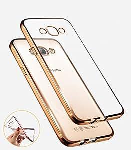 Unique Design Soft Silicon Transparent Back Cover For Samsung Galaxy core 2-Gold