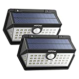 [2 Pezzi]Luce Solare Mpow 40 LED Sensore di Movimento, 3 Modalità Illuminazione IP65 Impermeabile, Luce Solare con Super Pannello Solare, Grandangolare 270° Lampada Solare Per Giardino,Cortile,Garage