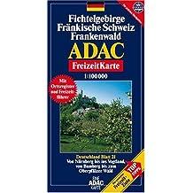 Carte touristique : Fichtelgebirge, Fränkische Schweiz, Frankenwald, N° BI21