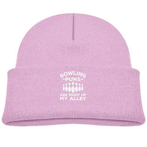 LLALUA Bowling Puns Are Right Up My Alley Beanie Cap Knit Hats Baby Boy Butterfly Beanie Baby