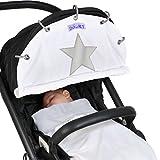 Dooky Wind- und Wetterschutz für Kinderwagen, mit phosphoreszierendem Stern, naturfarben