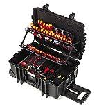 Wiha Werkzeugkoffer gefüllt (42069), 115 tlg., Werkzeug Trolley bestückt für Elektro-Installationen, mit Rollen, mit Werkzeug befüllt, für Elektriker, VDE Werkzeug für Profis
