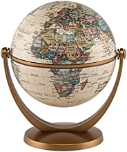 """Waypoint Geographic GyroGlobe 4"""" Classic Oceans - UP-TO-DATE Compact Mini Globe Swivels in All Directions"""