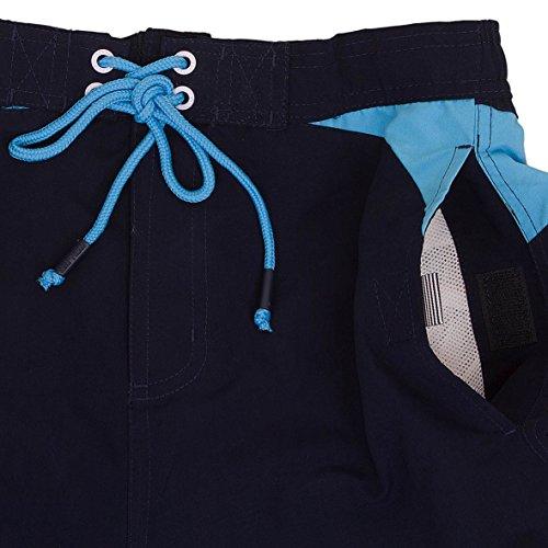 Smith & Jones Buoyant Boardshort Swimshorts & Flip Flops Bundle Set Navy