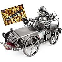BRUBAKER portabottiglie di vino Vigili del fuoco auto metallo scultura con biglietto regalo - Scultura Auto