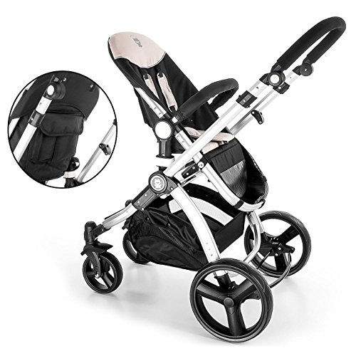 Kinderwagen Set MAGICA mit Babyschale 3 in 1 Kombi Kinderwagen Sand -