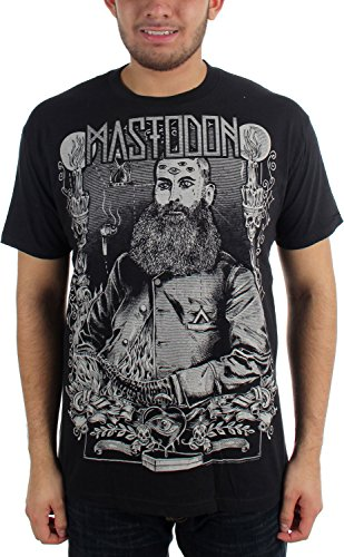 Mastodon, barba, da uomo Slim Fit T-Shirt in nero nero Small