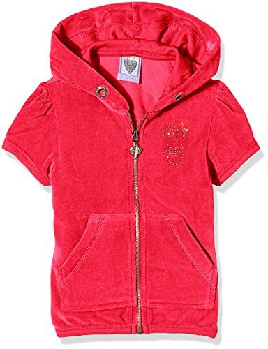 Angels Face Mädchen Top Short Sleeve Zip Hoodie, Pink (Hot Pink), 6-7 Jahre
