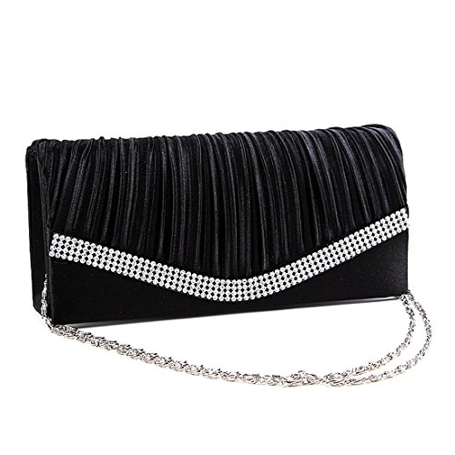 SSMKClutch Bag - Boesa da sera Donna Black