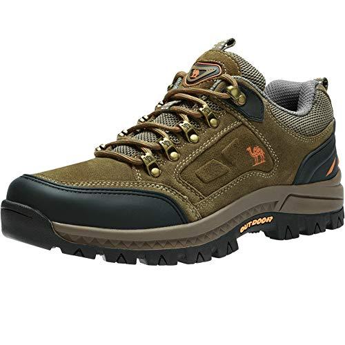 CAMEL CROWN Wasserdichte Wanderschuhe Outdoor Trekking Schuhe Männer Sport Hiking Bergschuhe für Klettern Reisen Täglichen Gebrauch Trainer,Khaki 2,45 EU
