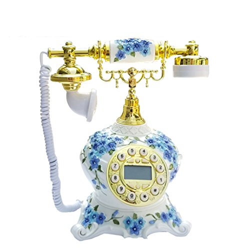 VOIP Telefone Glückliches Blumen-Telefon/europäisches Telefon/Mode-Retro- europäisches kontinentales Festnetz-Telefon/Desktop-Verzierungen Retro Telefon Voip-desktop