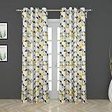 Home Centre Harold Printed Semi-Blackout Door Curtain-Set of 2 Pcs - Multicolour