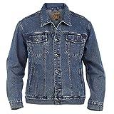 Duke D555 Veste en jean pour homme-Veste classique de camionneur, style cow-boy - - Large
