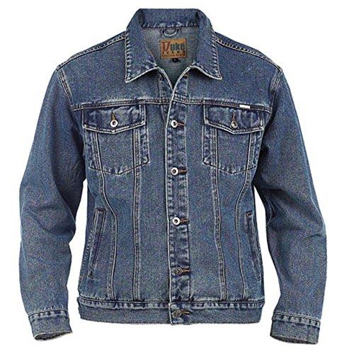 Duke Rockford Herren Große King Größe L Jeans Trucker Jacke Klassische Western Stil Mantel Top - Steingewaschen Blau, L -