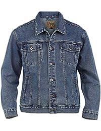 Duke Rockford Mens Big King Size Large Denim Jeans Trucker Jacket Classic  Western Style Coat Top 0e433db10e