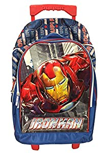Marvel Avengers Iron Man 'ARMOR UP' Wheeled Trolley Bag Backpack Cabin Luggage