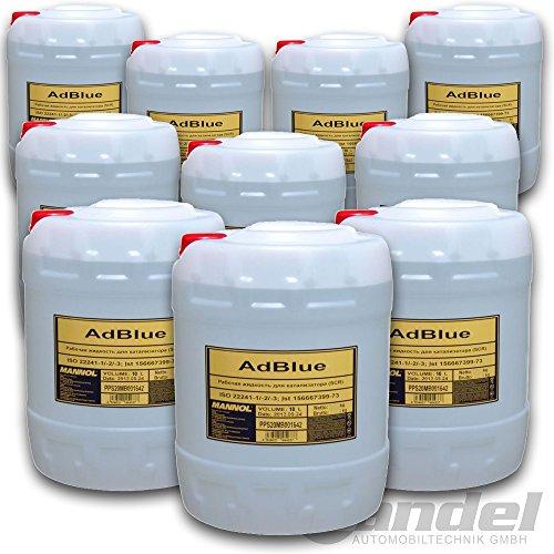 Bandel-Automobiltechnik AdBlue 100 Liter SCR Harnstofflösung AUS 32 ISO 22241 MB VW Audi für PKW LKW Diesel (Diesel-lkw)