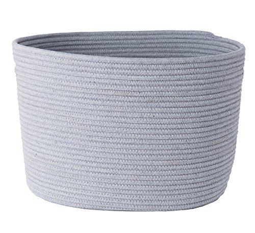 LoongBaby waschender Korb Baumwollseil Speicherkarte für das Speichern von Kleidung, Kinderzimmer, scherzt Spielwaren (Grau) ()
