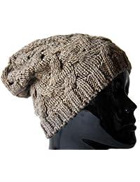 Mütze Strickmütze mit Zopfmuster Grobstrick