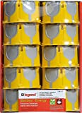 Legrand 200157 Lot de 10 Boîtes à encastrer Ecobatibox, Jaune, 40 mm