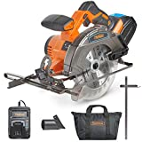 VonHaus Cordless Circular Saw with 3.0Ah Li-ion 20V MAX Battery, Charger, 1 x