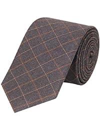 Tiekart men grey checked woollen tie