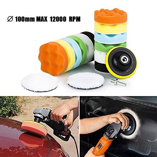 Juego de esponjas y almohadillas para coche, de la marca ZIpom, con adaptador para taladro M10