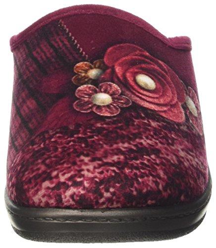 INBLU Lory, Pantofole Aperte sulla Caviglia Donna Rosso (Bordeaux)