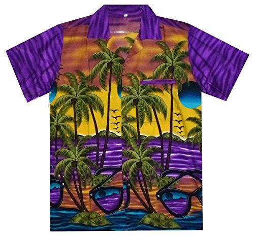 Funky Hawaiihemd, Sunglasses, lila, XXL