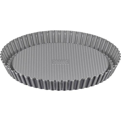 Kaiser Inspiration Tortenboden, Ø 28 cm, rund, Wellenrand, antihaftbeschichtet, gleichmäßige Bräunung, ausgestellter Griffrand