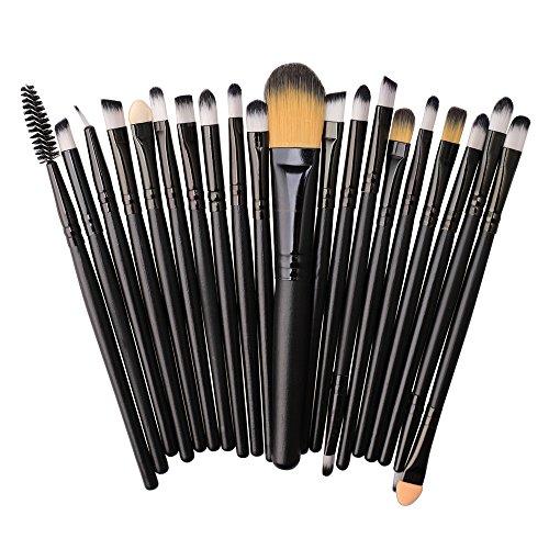 Saingace 20pcs Make-up Pinsel Set Professionelles Schminkpinsel Kosmetikpinsel Lidschatten...