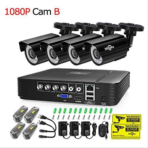 CCTV Kamera System 4ch 720p/1080p Ahd Sicherheitskamera Dvr Kit Wasserdicht Outdoor Home Video Surveillance System Festplatte Porzellan 1080P Nocke B - Dvr-system Kit