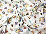 Bob der Baumeister Print Baumwolle Disney Stoff, Meterware,