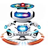 O&B Dancing Robot For Kids With Attractive Dancing Motions With 3D Lights And Music, Toys For Kids
