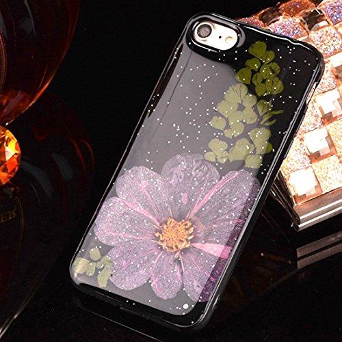 Epoxy Dripping gepresste echte getrocknete Blume weiche TPU schützende Fall rückseitige Abdeckung für iPhone 6 Plus u. 6s Plus by diebelleu ( SKU : Ip6p2295g ) Ip6p2295b