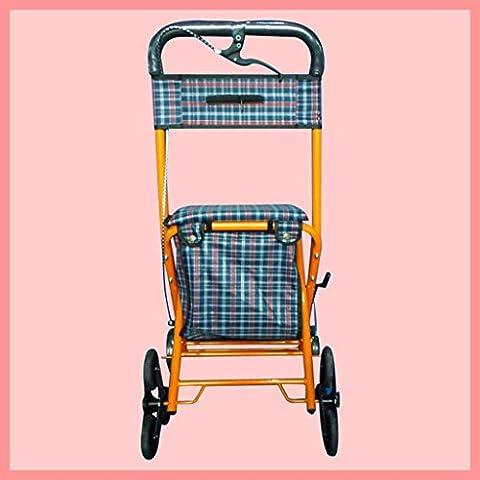 Walker de compra Metal carrito plegable ancianos puede tomar el escaleras supermercado carro Trolley de ocio , a