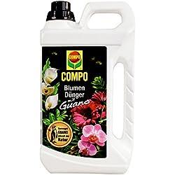 COMPO Blumendünger mit Guano für alle Zimmer-, Balkon- und Terrassenpflanzen, Spezial-Flüssigdünger, 5 Liter