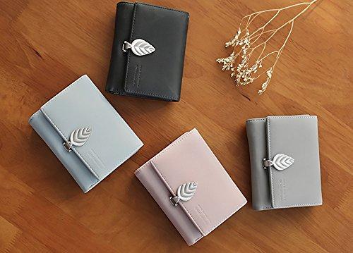 CLOTHES- Borsa della borsa della borsa della moneta del raccoglitore delle signore Borsa della moneta della borsa della moneta della borsa Versione coreana della bella personalità semplice Mini Foglie Rosa