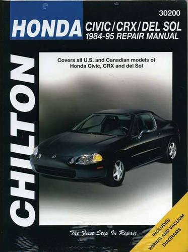 Honda Civic, CRx And Del Sol (84 - 95) (Chilton's Total Car Care Repair Manual)