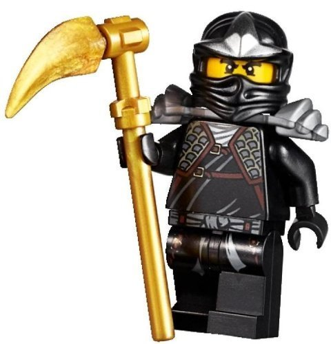 LEGO Ninjago - Minifigur Cole ZX mit Rüstung und Waffe