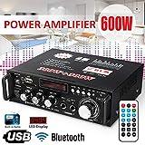 Aoile Amplificateur LCD 600 W HiFi Audio Stéréo Bluetooth FM 2 canaux AMP Voiture Maison USB SD Lecteur MP3
