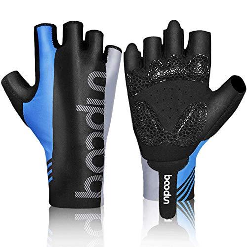 HASAGEI Fahrradhandschuhe Fingerlose Handschuhe Rennrad Handschuhe Radfahren Handschuhe Dünne Radsport Handschuhe für Herren und Damen (Blau, M)