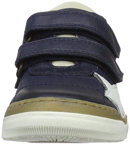 Bisgaard Klettschuhe, Sneakers basses mixte enfant Blau (600 Blue)