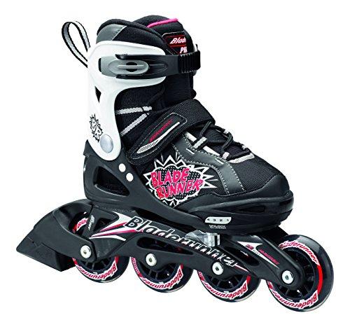"""Bladerunner-""""Phaser regolabile Bambini skate (piccolo, nero/rosso)"""